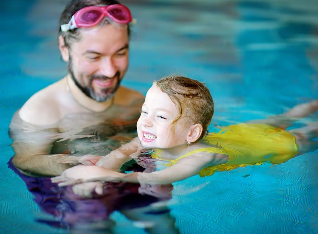 Плавание,занятия для детей